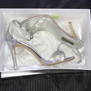 Silver Steve Madden Glam heels